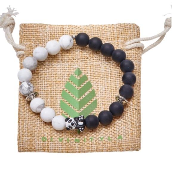 Pré-commander images officielles couleur attrayante Divinity LA panda bracelet 🐼 NWT